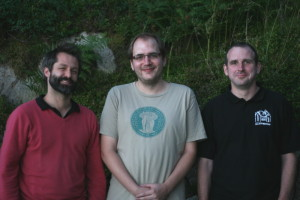 Picture of the prize winners Karim Adiprasito, Zdenek Dvorak, and Rob Morris